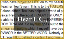 Devotee of spiritual leader Teal Swan unleashes fury toward those who question her