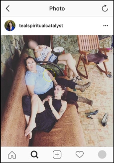 """Member of Teal's """"intentional community"""" and close confidant of Teal's. Source: Instagram"""