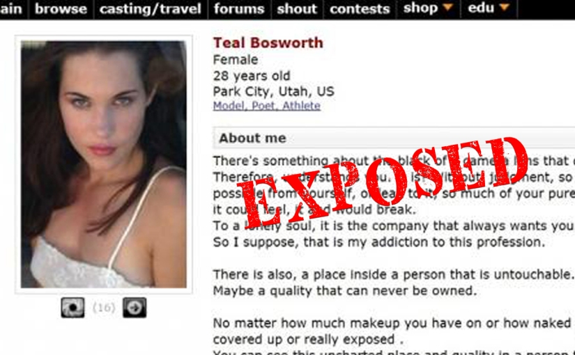 Teal Swan boasts alleged international modeling, but it conflicts with her alleged ritual abusestory